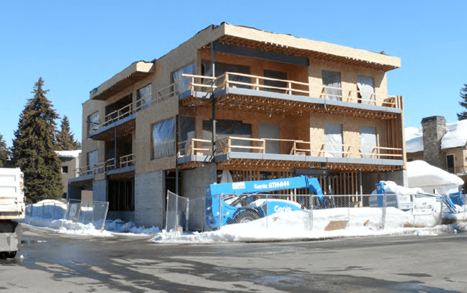 mixed-use project in Ketchum, Idaho financed by hard money