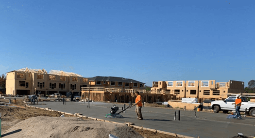 Hard money construction loan for townhomes